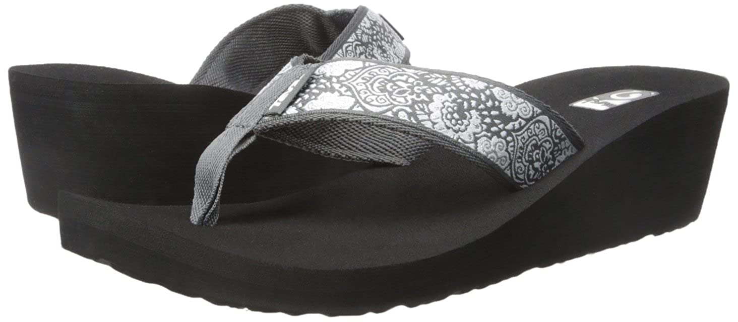 57b261437 Teva Women s Mush Mandalyn Wedge 2- Pack Sandal Motif Black Out Harmony  Silver 11 B(M) US  Buy Online at Low Prices in India - Amazon.in