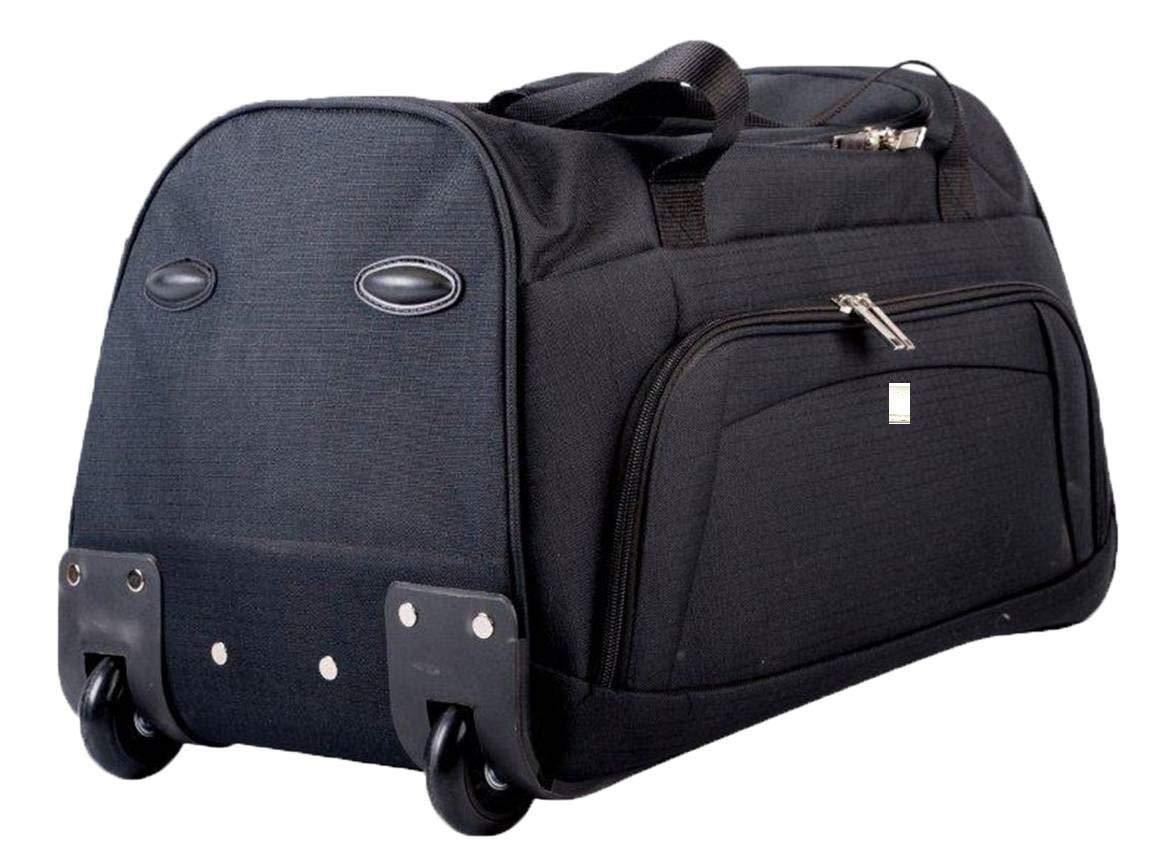 Black Rallegra Unisex Cabin Wheeled Duffle Bag