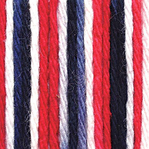 Lily Sugar'n Cream Cotton Cone Yarn, 14 oz, Nautical Ombre, 1 Cone