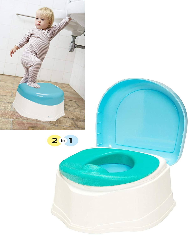 2 In 1 Kid Baby Toilet Training Children Safety Toddler Potty Trainer Seat Chair