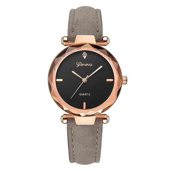 BBestseller Moda Relojes para Mujer, Cuero PU Acero Reloj de Ginebra Relojes de Pulsera Accesorios de Moda Watches (Gris): Amazon.es: Ropa y accesorios