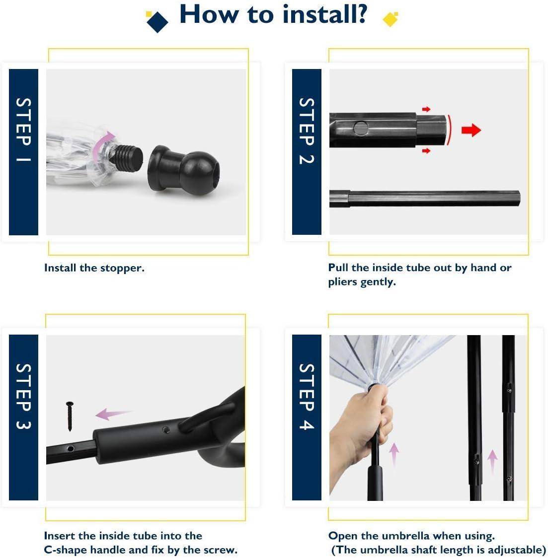 K/&L Pet Dog Umbrella Pet Umbrella with Leash