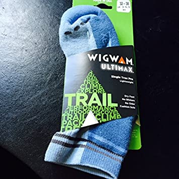 Wigwam Armazón de Sola Trax Pro Calcetines técnicos Trail Running, Unisex, Color Ashley Blue, tamaño Small: Amazon.es: Deportes y aire libre