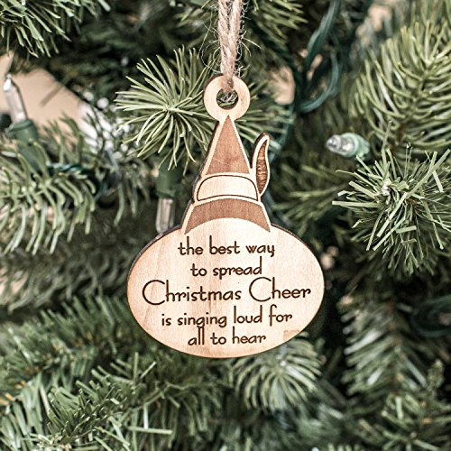 Ornament - Christmas Cheer - Raw Wood -