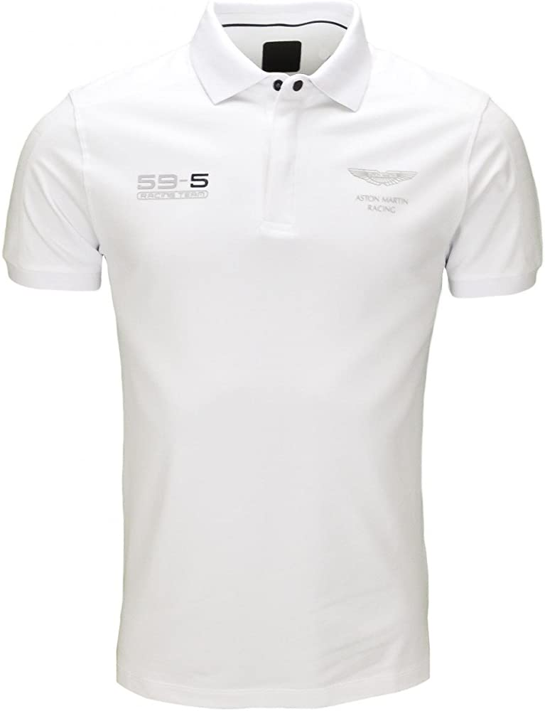 Hackett London Amr Slim Plackt-Polo Hombre Blanco XXX-Large ...