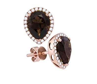 Amazon Com Brandy Smoky Quartz Jewelry Chocolate Brown White