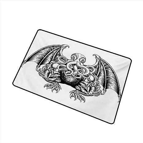 Amazon.com  Fashion Door mat Kraken Cthulhu Monster Evil
