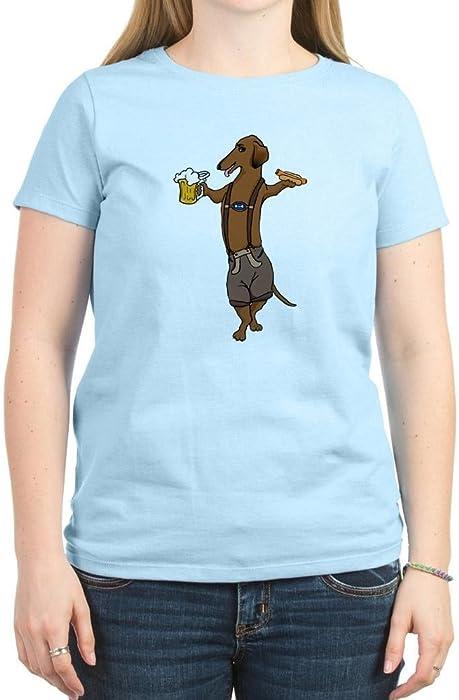 588d3a5cf84a Amazon.com  CafePress - Dachshund Lederhosen Women s Light T-Shirt ...