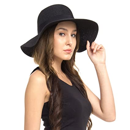 f8297e5f6c Buy FabSeasons Black Sun Hat for Women Online at Low Prices in India ...