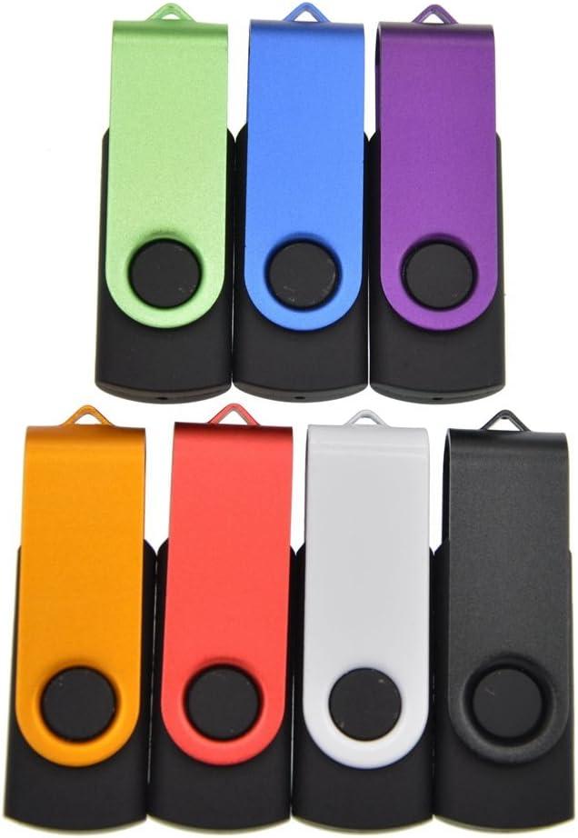 32GB Flash Drive USB 3.0 Bulk 7 Pack Memory Sticks High Speed Thumb Drive Pendrive FEBNISCTE Data Stick Multi-Pack Swivel Jump Drive