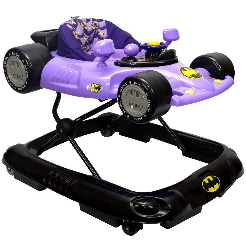 KidsEmbrace Batgirl Baby Activity Walker, DC Comics Car, Music and Lights, Purple