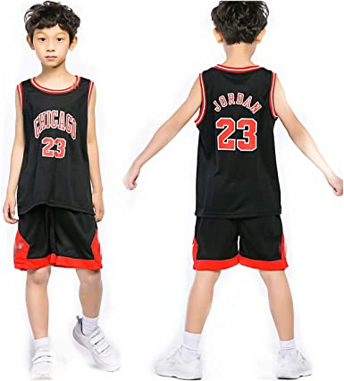 Chico NBA Michael Jordan # 23 Chicago Bulls Retro Pantalones Cortos de Baloncesto Camisetas de Verano Uniformes y Tops de Baloncesto Uniformes (Negro, XL): Amazon.es: Ropa y accesorios
