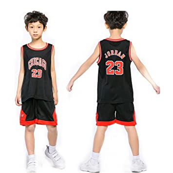 newest c0326 9bcee Yezelend Enfant garçon NBA Michael Jordan   23 Chicago Bulls Short de Basket -Ball Retro