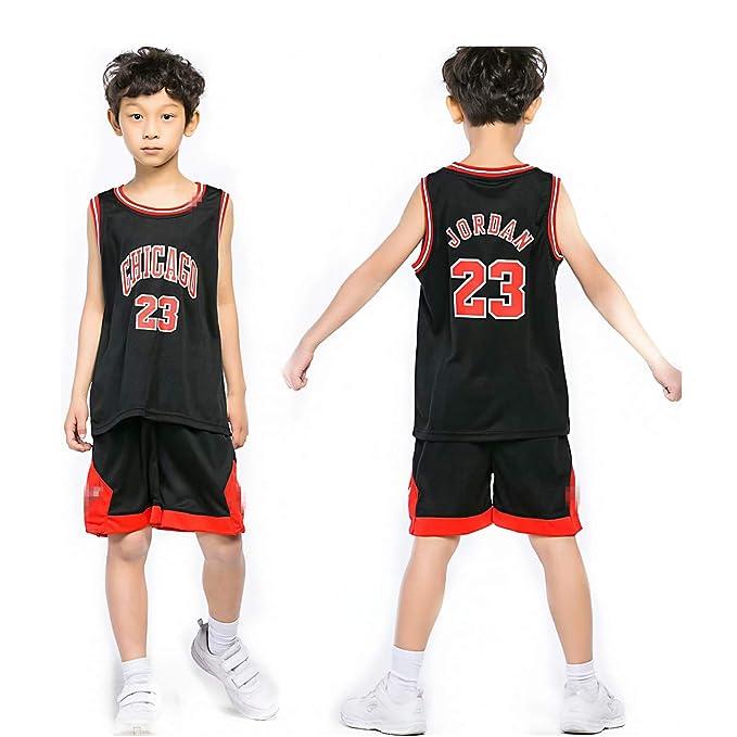 Chico NBA Michael Jordan # 23 Chicago Bulls Retro Pantalones Cortos de Baloncesto Camisetas de Verano Uniformes y Tops de Baloncesto Uniformes