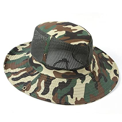 00c344f9256 Ezyoutdoor Outdoor Boonie Sun Hat - UPF 50 Protection for Men   Women Large  Brimmed Summer