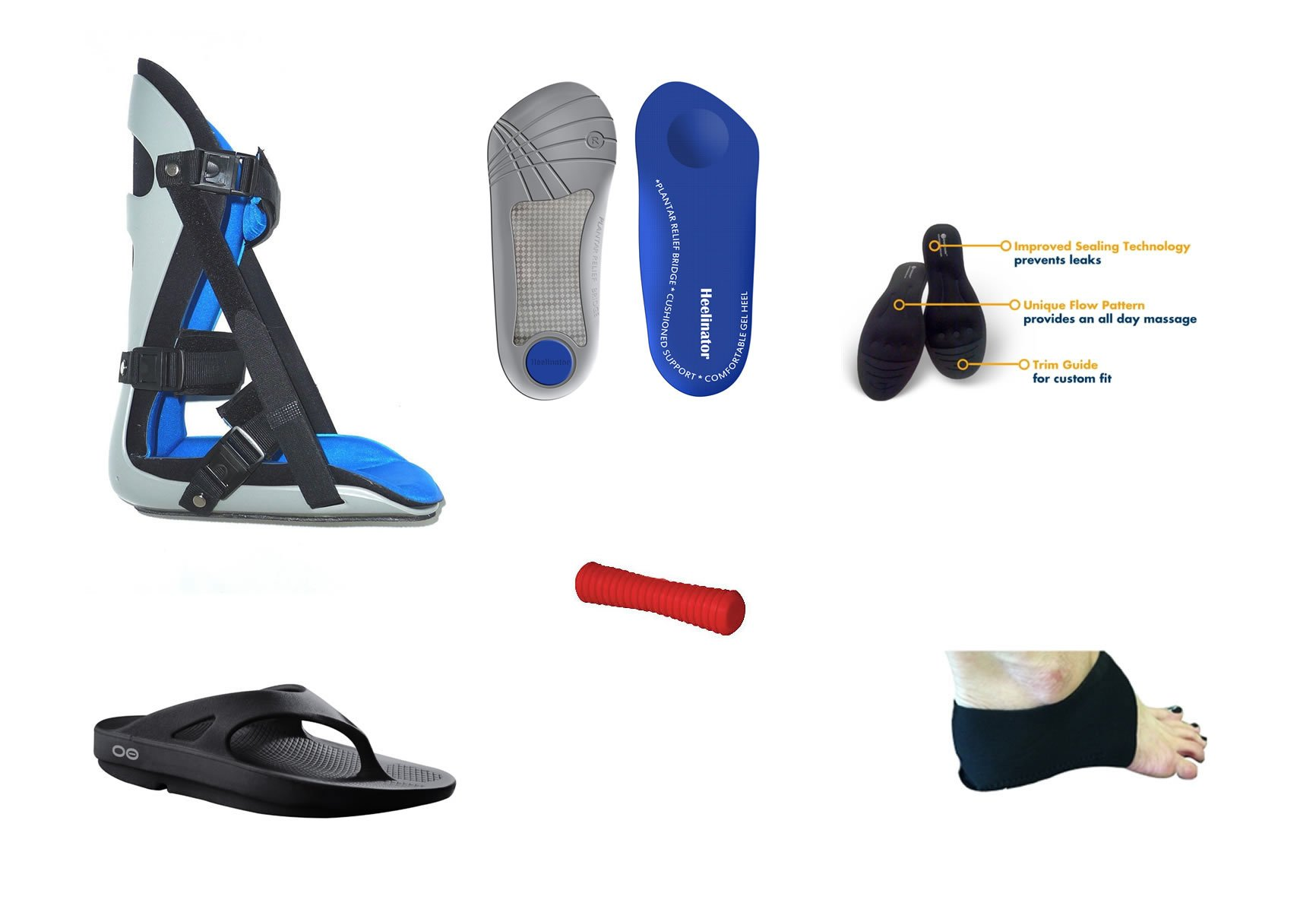 Ultimate Plantar Fasciitis Heel Pain Treatment Package (6 Products Included Day and Night Treatment) (Women 9)