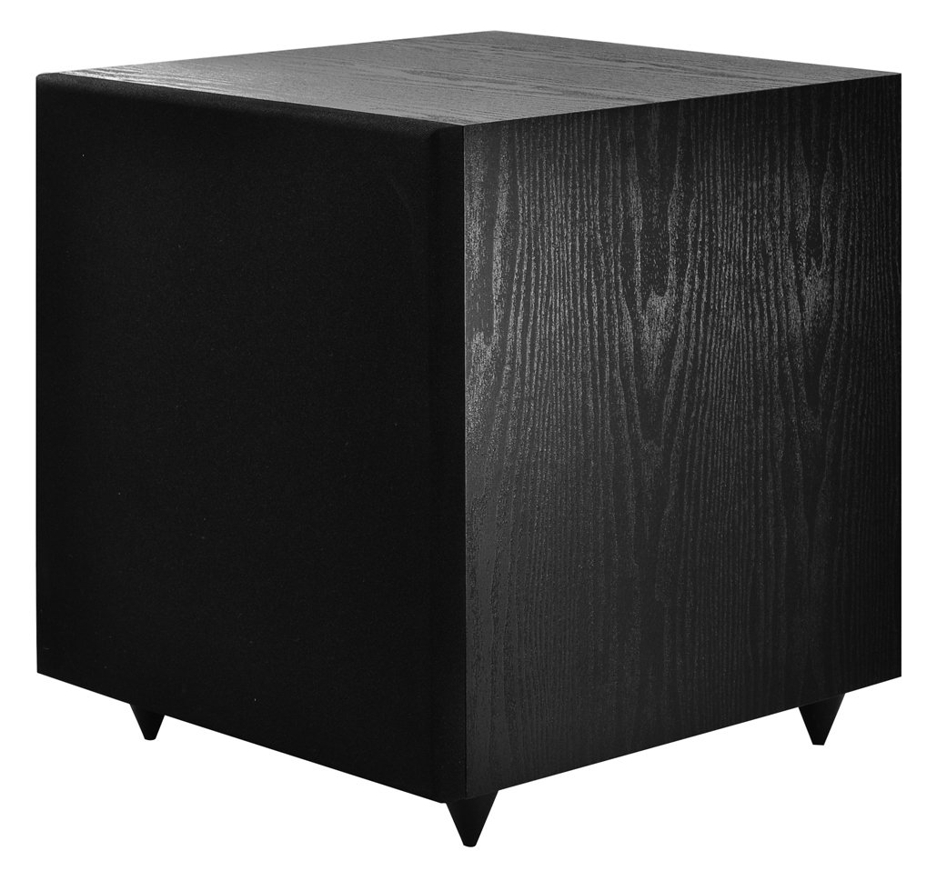 OSD Audio PS12 High Powered 12-Inch  175W Powered Premium Home Theatre Subwoofer, Black Matte Finish