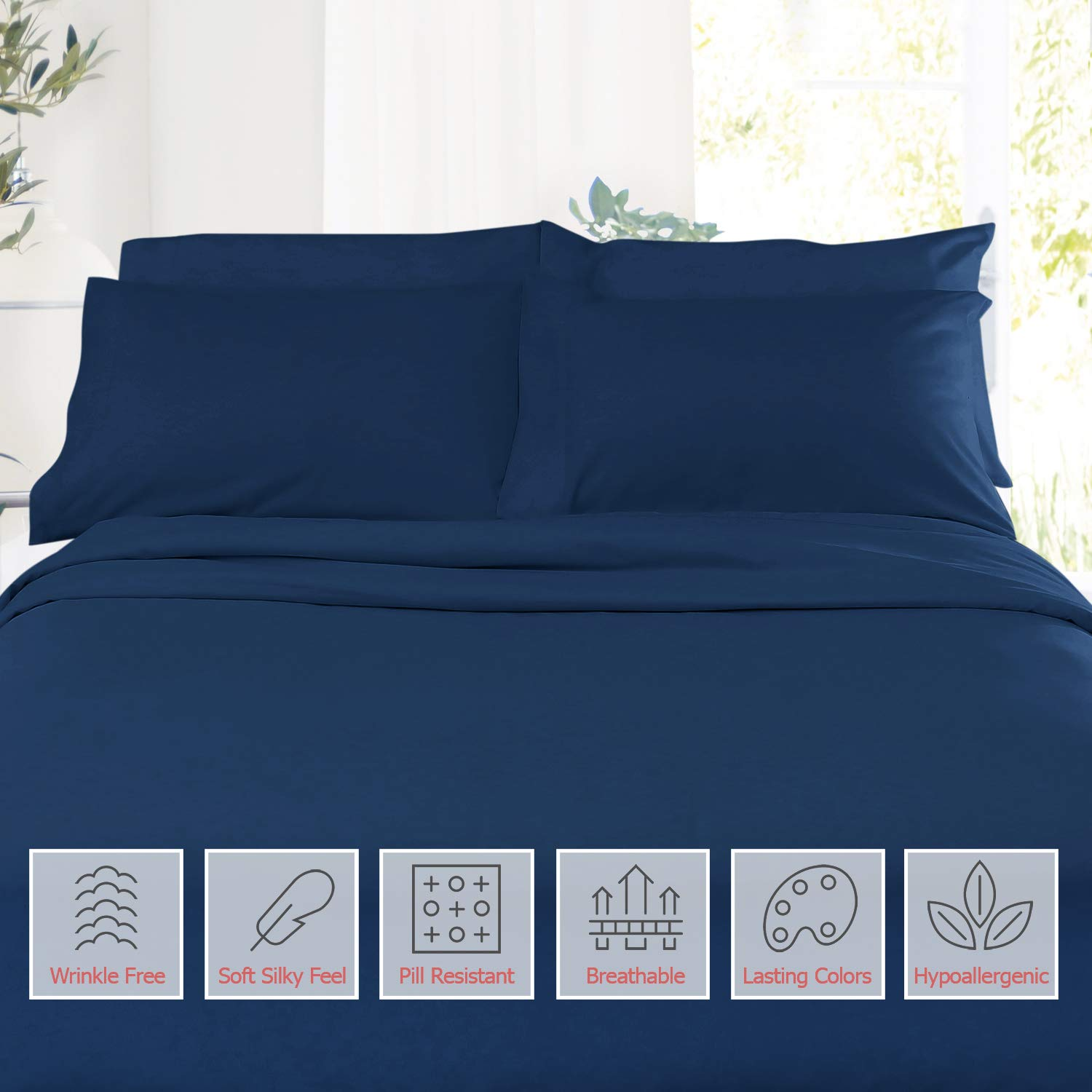 """Microfiber Silky Soft Crib Sheets Hypoallergenic Toddler Sheets 28x52 with 14/""""x19/"""" Pillowcase Breathable Soft Cozy Baby Sheet Toddler Size Bed Sheets Set Mint"""