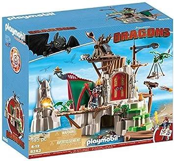 Cómo entrenar a tu Dragón-Isla de Berk Playset de Figuras de Juguete, Multicolor, 58,5 x 25 x 50 cm Playmobil 9243