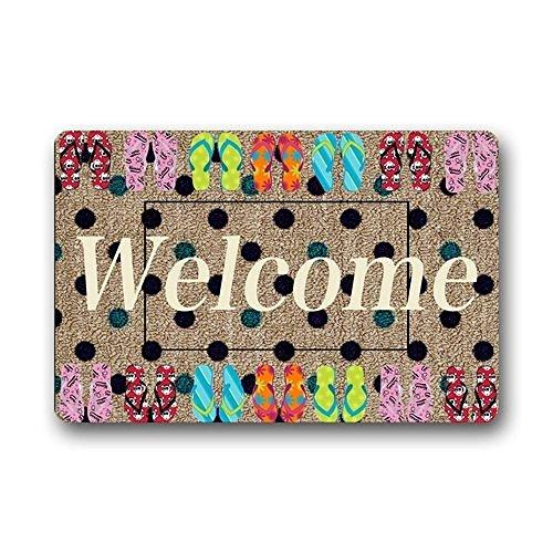 XiaoS-Door-Mats-Custom-Design-Rubber-Flip-Flop-Welcome-Home-Funny-Doormat-236-L-x-157-W-inches