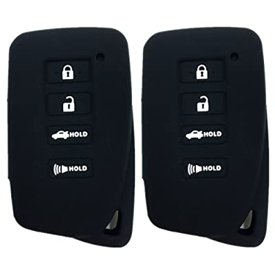 Ezzy Auto A Pair Black Silicone Rubber Key Fob Case Key Covers Key Jacket Skin Protector fit for Lexus: Automotive