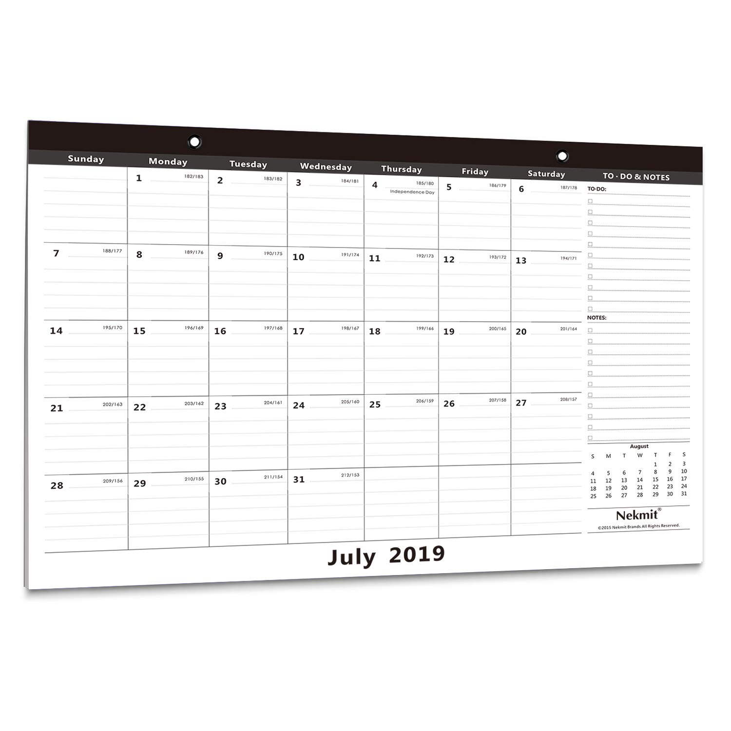 Calendar School Year 2020-16 Amazon.: Nekmit 2019   2020 Academic Year Monthly Desk Pad