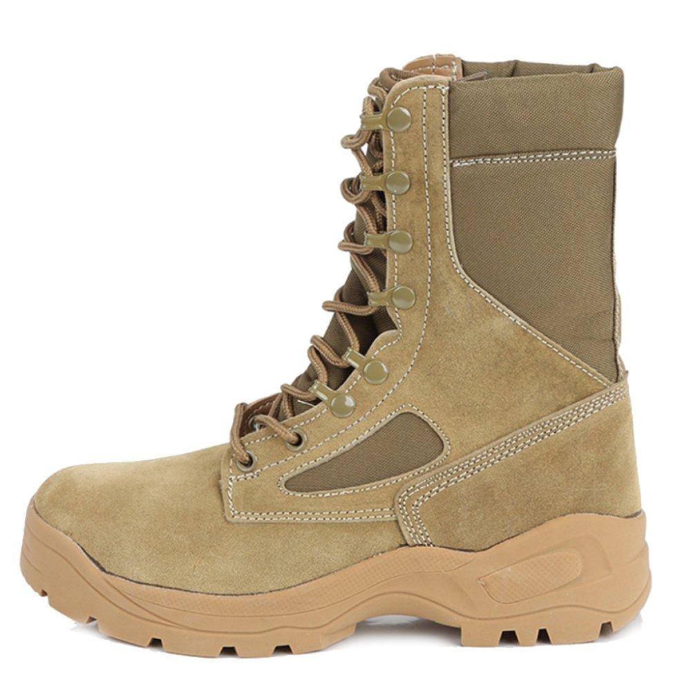 JINGRONG Männer High Top Sport Outdoor Kampfstiefel Armee Militärstiefel Camping Wandern Klettern Schuhe Sicherheitspolizei Taktische Stiefel