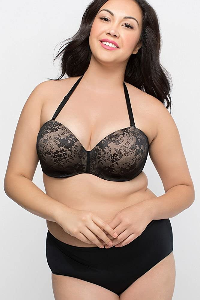 779bfb404 David s Bridal Curvy Couture Strapless Convertible Push-up Bra Style 1211  at Amazon Women s Clothing store