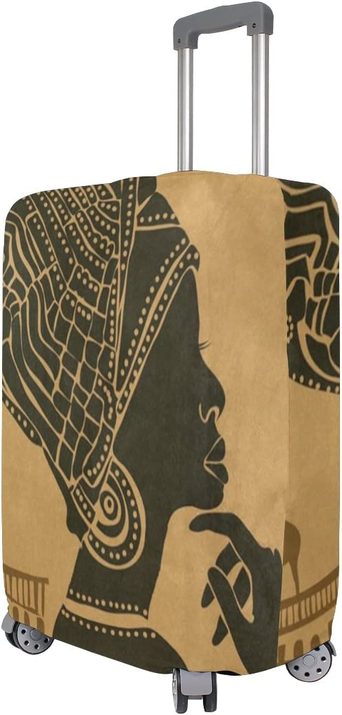 Luggage Protective Covers with African Black Woman Washable Travel Luggage Cover 18-32 Inch