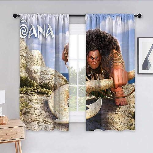 Blackout Curtain Panels 63x72 inch Moana Maui Moana 4k sd Privacy Room Divider