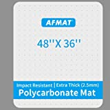 """Heavy Duty Office Chair Mat, 48"""" x 36"""", Polycarbonate Office Floor Mats, Office Chair Mat for Carpet, Office Carpet Protector"""