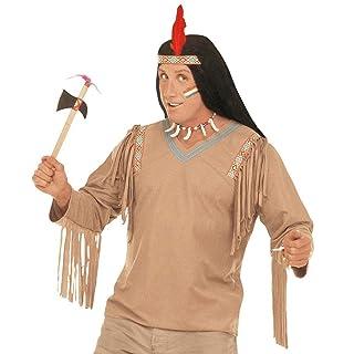 Tradizionale ascia da guerra indiana arma perfetta per arricchire il costume di carnevale con originalità - lunghezza: 37 cm