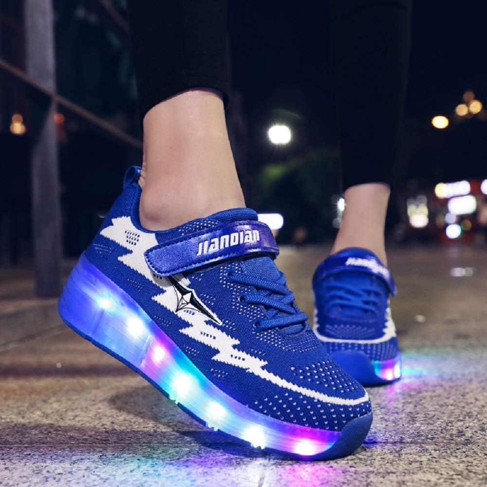 Nsasy Roller Skates Shoes Girls Boys Roller Shoes Kids Wheel Shoes Roller Sneakers Shoes with Wheels for Kids