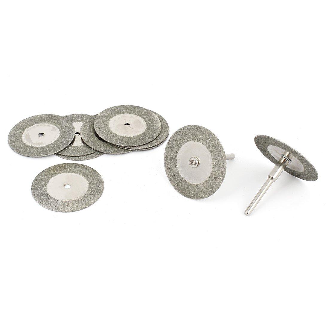 Sourcingmap Lot de 10 embouts de 35 mm à revêtement diamant disques de coupe à moyeu déporte w (1/8 'pour mandrin a14120800ux0460