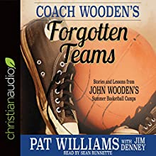 Coach Wooden's Forgotten Teams: Stories and Lessons from John Wooden's Summer Basketball Camps Audiobook by Nan Wooden - foreword, Pat Williams, Jim Denney - With Narrated by Sean Runnette