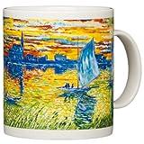 Claude Monet - Sunset on The Seine - 14oz Coffee Mug