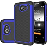 Alcatel A30 Case,Mustaner Shock Absorption Drop Protection Hybrid Dual Layer Armor Defender Protective Cover For Alcatel A30 Verizon/Alcatel A30 GSM(Black/Blue)