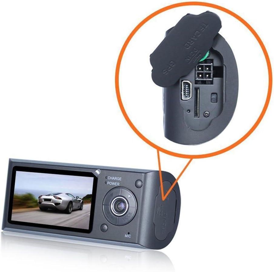 Shentesel Car DVR 2.7 Inch Dual Lens Camera Vehicle 720P Dash G-Sensor GPS Video Recorder