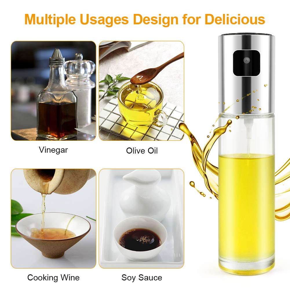 Oil Sprayer,Olive Oil Sprayer Mister Food-grade Glass Oil Sprayer for Cooking