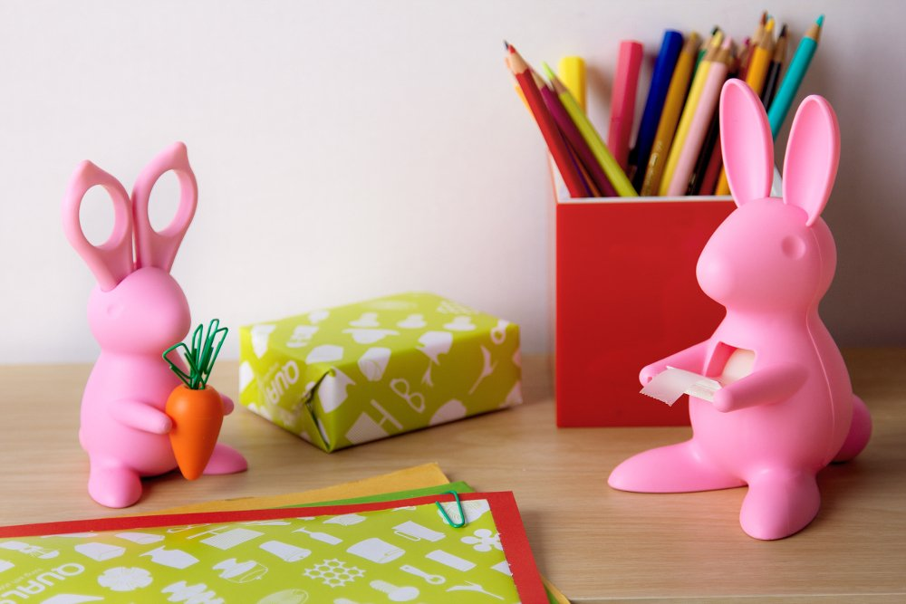 Bunny Desk Organiser - Scissors and Paper Clips Holder by Cub (Image #2)