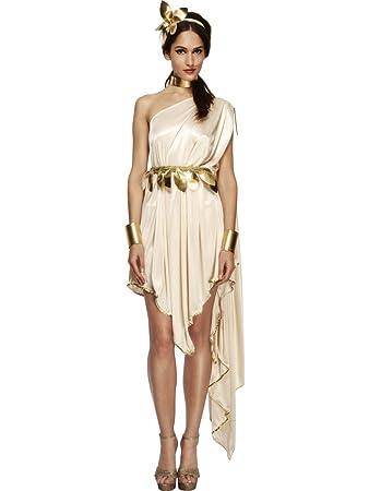 Smiffys Göttinkostüm Kostüm Göttin weiss gold sexy Kleid antik ...