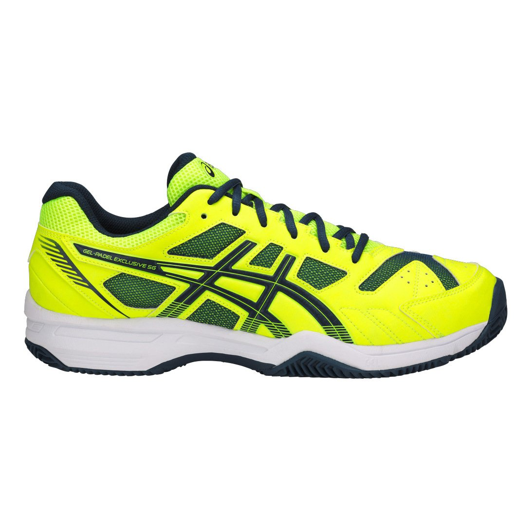 ASICS Gel Padel Exclusive 4 SG Amarillo Gris E515N 0749: Amazon.es ...