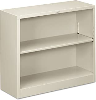 product image for HON S30ABCQ Metal Bookcase, Two-Shelf, 34-1/2w x 12-5/8d x 29h, Light Gray