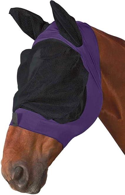 Full, Purple//Black Weatherbeeta Stretch Eye Saver with Ears