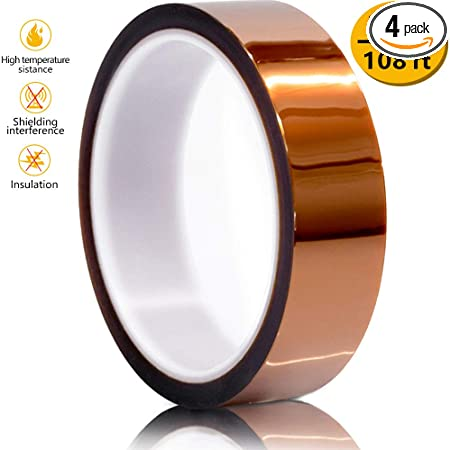 5 Mil High Temp Powder Coating Soldering Insulation Polyimide kapton Tape 5//8/""