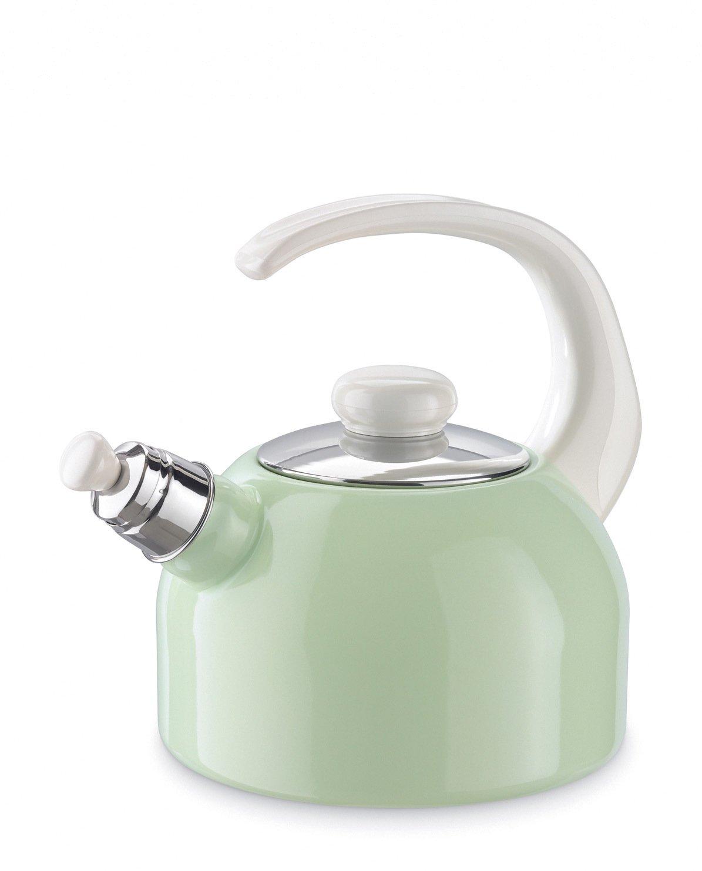 Riess Flötenkessel - Wasserkessel - Emaille - pastellgrün - Höhe 22 cm - 2 Liter