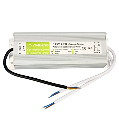 yaetek ac 90 250v to dc12v 120w transformer ip67 waterproofimage unavailable image not available for colour yaetek ac 90 250v to dc12v 120w transformer ip67 waterproof electronic led driver power supply