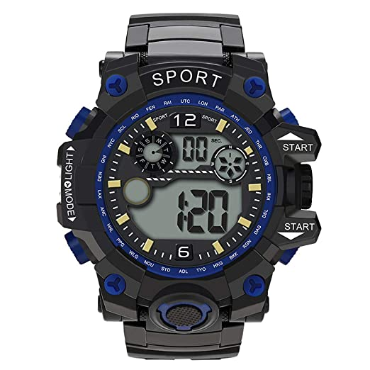Digital Watches for Men DYTA LED Sport Wrist Watches 5ATM Water Resistant Outdoor Watch on Sale