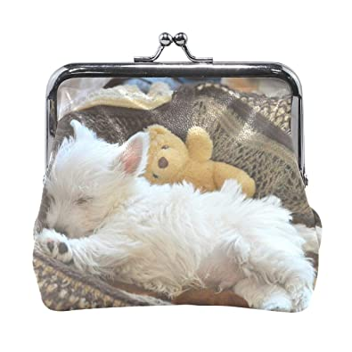 Amazon.com: Little Fluffy - Monedero de perro blanco para ...