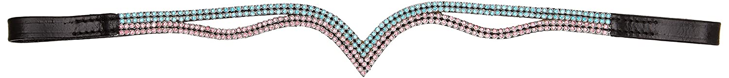 Cwell Equine V Shaped silver Crystal Browband Choice of Size F//C//P BLACK